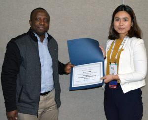 Kexin Yu receives APHA award
